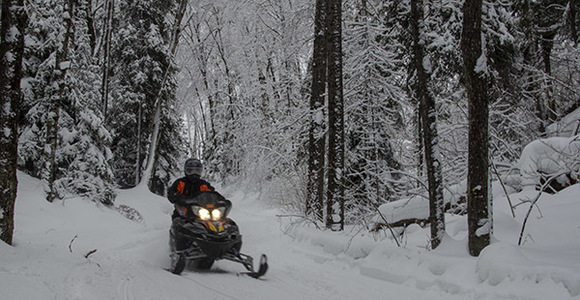 A rider enjoys a state-managed trail in Marquette County.