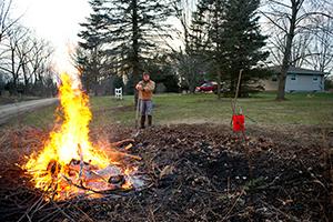 Debris burning