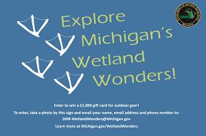 Wetland Wonders Challenge sign