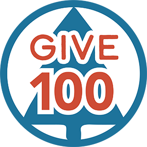 Give 100 logo