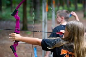 kids shooting bow
