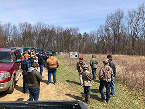 DNR staffers and partners tour Holly Turkey Tract