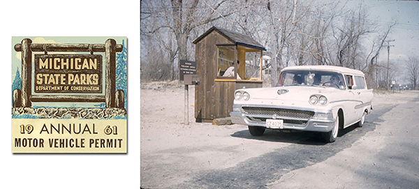 The entry booth at Holland State Park in Ottawa County is shown here as part of a promotional piece from 1961.