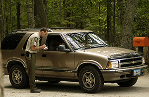 Vehicle check in at state parks hasn't changed much visually over the years.