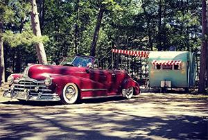 vintage trailer at Hoffmaster State Park
