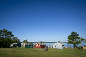 cabins at Lime Island Recreation Area