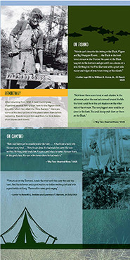 Infographic on Hemingway and Pigeon River