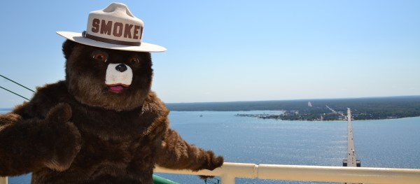 Smokey Bear bridge banner