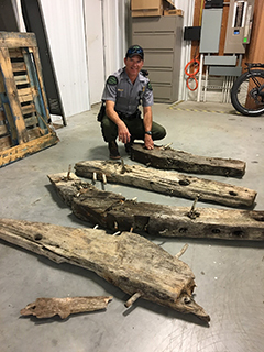 In 2018, Conservation Officer Sean Kehoe and other Michigan DNR conservation officers recovered stolen shipwreck timber from the Metropolis.