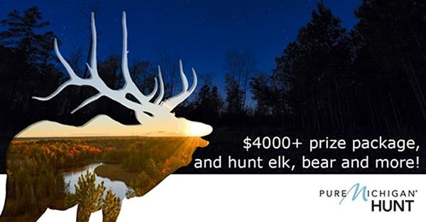 Pure Michigan Hunt graphic with elk silhouette