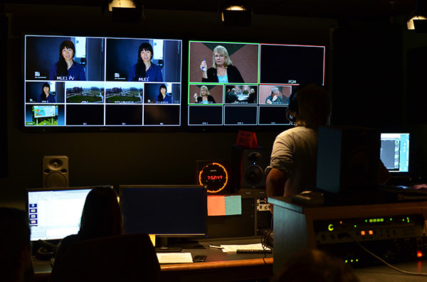 "A view inside the control room during ""Ask the DNR"" is shown."