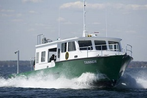 The Michigan DNR's research vessel Tanner, stationed in Alpena,.