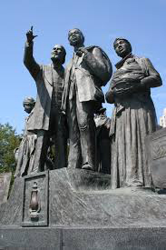 Gateway to Freedom monument in Detroit