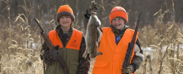 youth rabbit hunters