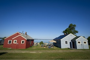 a view of rental cottages at Lime Island Recreation Area