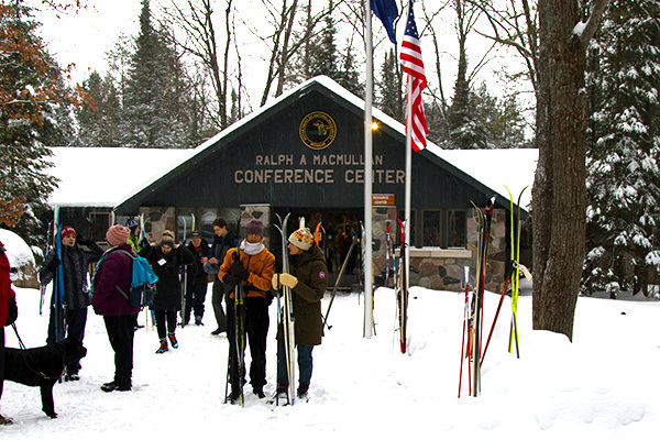 Ski for Light participants gather at the Ralph A. MacMullen Conference Center in Roscommon County.