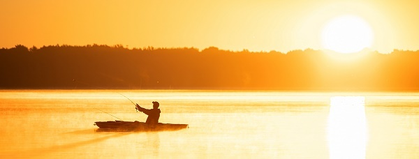 Fishing at Interlochen State Park - summer 2019. Photo courtesy Tyler Leipprandt and Michigan Sky Media.