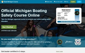 state of Michigan boater safety education course screen shot