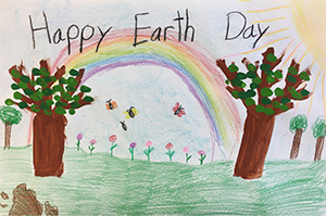 Earth Day 2020 first grade poster contest winner