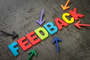 colorful image of the word feedback spelled out