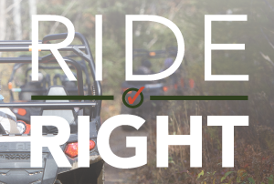 Ride Right logo with ORV