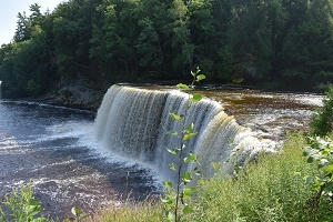 a view of the Upper Tahquamenon Falls in Luce County, Michigan