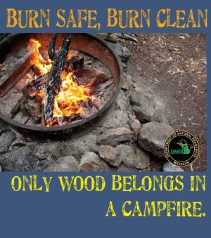 Burn safe, burn clean graphic