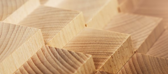An artistic photo of milled lumber