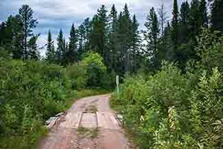 A bridge over Deer Creek in Marquette County, set for replacement, is shown.