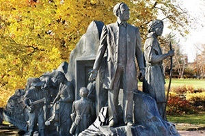 a monument to the Underground Railroad, in Battle Creek, Michigan