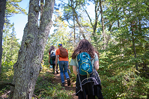 Hikers at Wilderness State Park