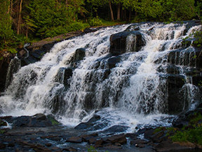 Bond Falls in Ontonagon County is shown.