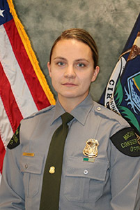 Michigan Department of Natural Resources Conservation Officer Jackie Miskovich.