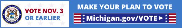 Getting voting information at michigan.gov/vote
