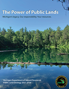 Cover image of draft 2021 DNR public land strategy