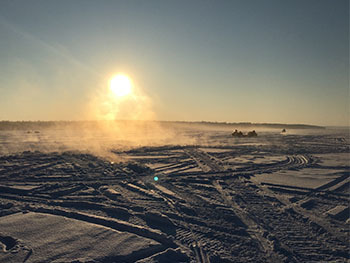 A frosty morning is shown on Lake Gogebic in the western Upper Peninsula.