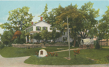 An old color postcard shows the Walker Tavern.