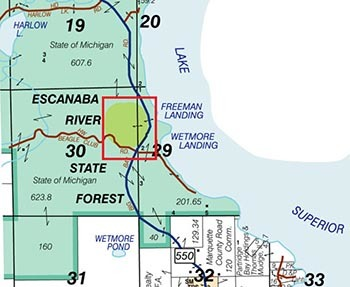 A map shows the area along County Road 550 that will be closed temporarily for construction work.