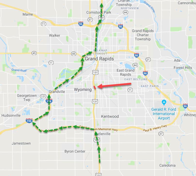 RESCHEDULED Total closure NB US131 Grand Rapids March 912