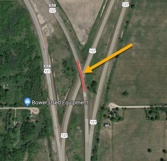 Ramp Closure Nb Us 127 To Eb Us 10 Isabella County May 14 15 - Us-127-michigan-map
