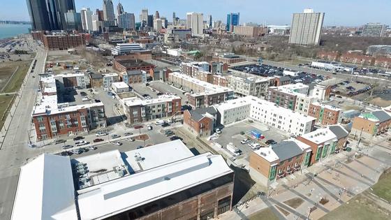 Detroit aerial shot