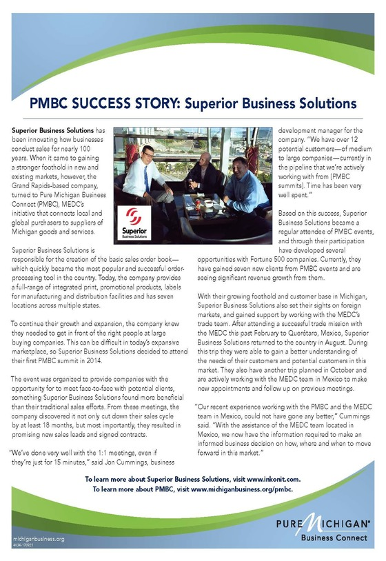 Supplier Success Story