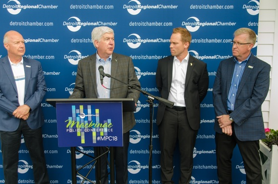 This Just In: Gov  Snyder, state leaders launch $8 Million