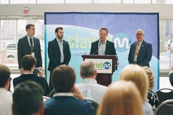 PlanetM press conference announcing Startup Grant