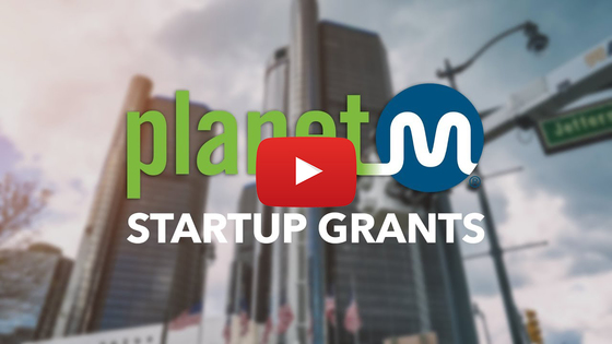 Thumbnail for startup grant video with Detroit skyline in background