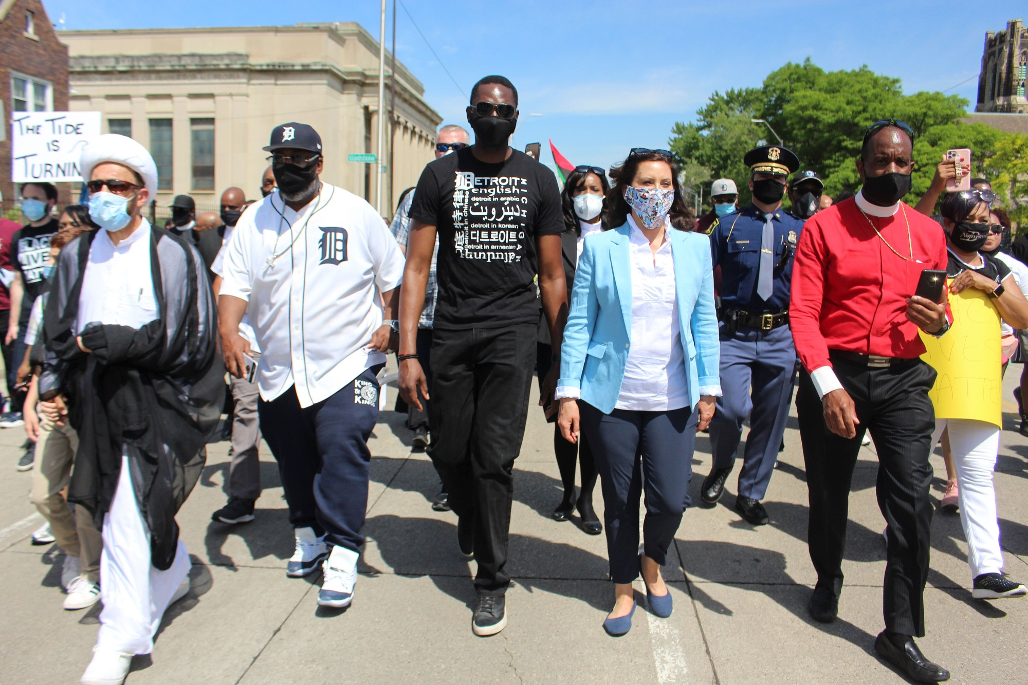 Whitmer Photos Governor Whitmer And Lt Governor Gilchrist Join Unity March In Detroit