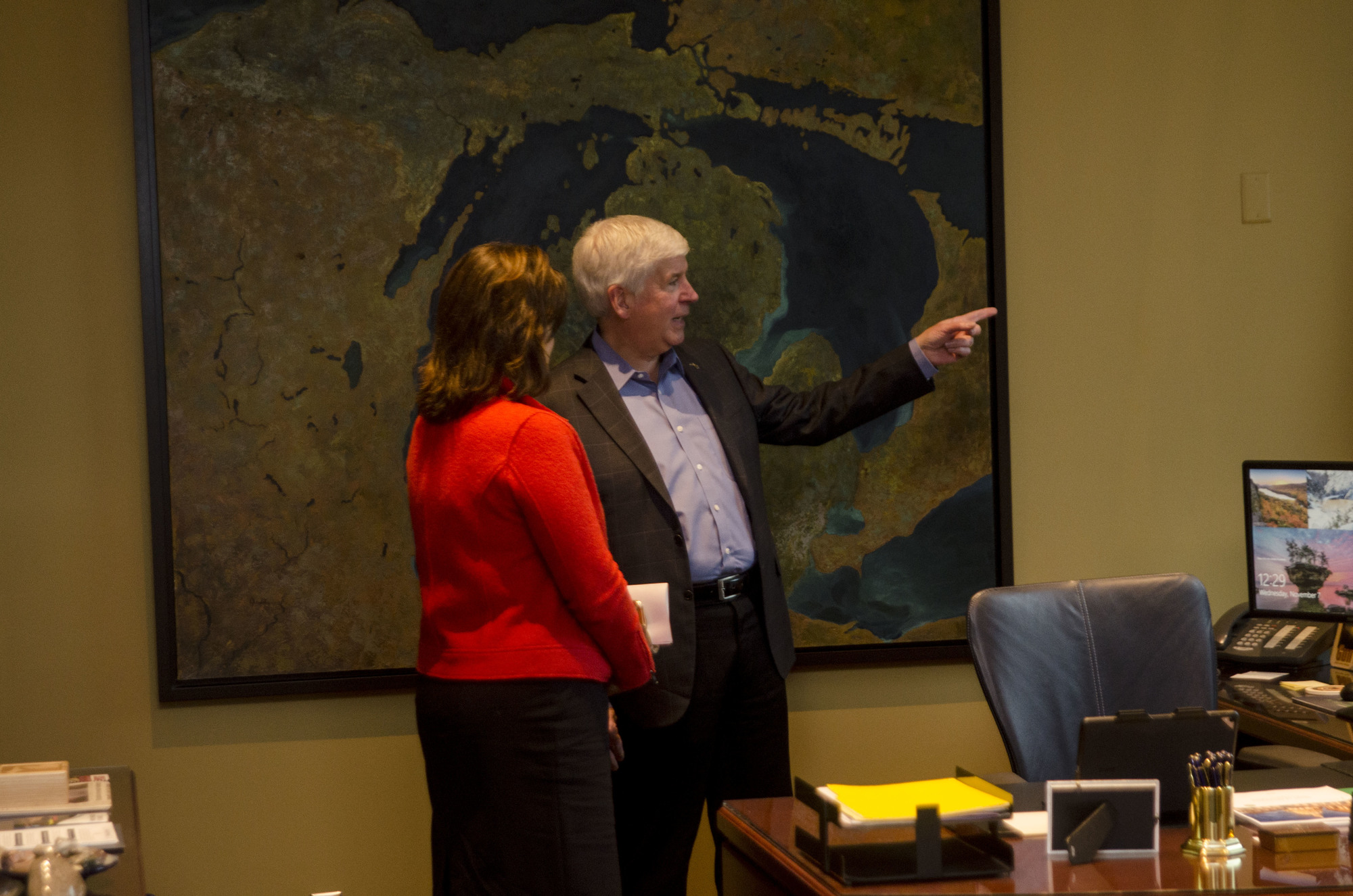 Gov. Snyder meets with Governor-elect Gretchen Whitmer