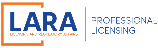LARA; Professional Licensing