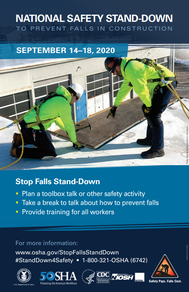 National Safety Stand-Down to Prevent Falls in Construction