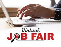 Virtual Job Fair graphic image
